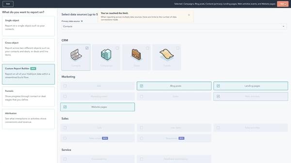 Custom Report Builder HubSpot