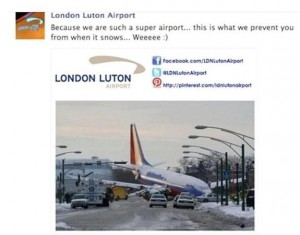 Social Media Fail Luton Airport