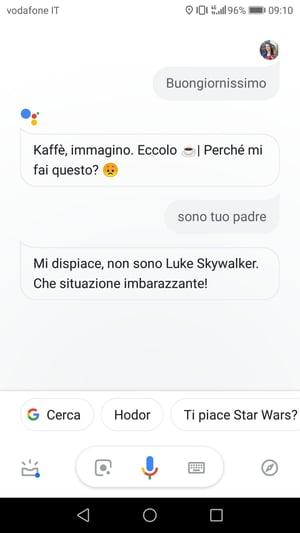 assistente vocale google chatbot
