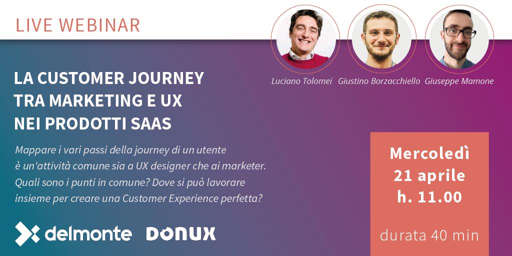 La customer journey tra Marketing e UX nei prodotti SaaS